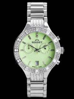 BISSET BSBE18 - silver/green (zb547a)