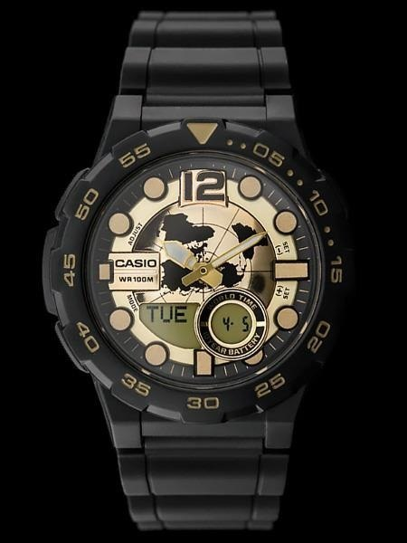 CASIO AEQ-100BW 9AV (zd069a) - WORLD TIME
